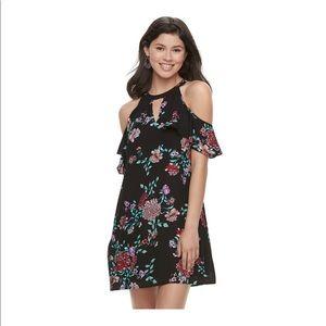 Cold shoulder high neck swing dress NWT 🌹